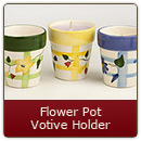 Flower Pot Candle-Blue - Flower Pot Candle-Blue