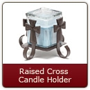 Raised Cross Candle Holder Item #109R - Iron Candle Holder