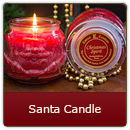 Santa Candle - The magic of Christmas comes to life with our fun-shaped 11.5 ounce Santa Candle