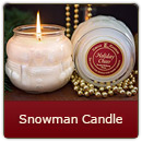 Snowman Candle - The magic of Christmas comes to life with our fun-shaped 11.5 ounce Snowman jar.