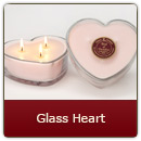 Triple Wick Glass Heart - Triple Wick Glass Heart